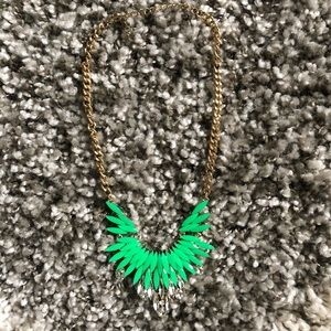 Green/crystal necklace